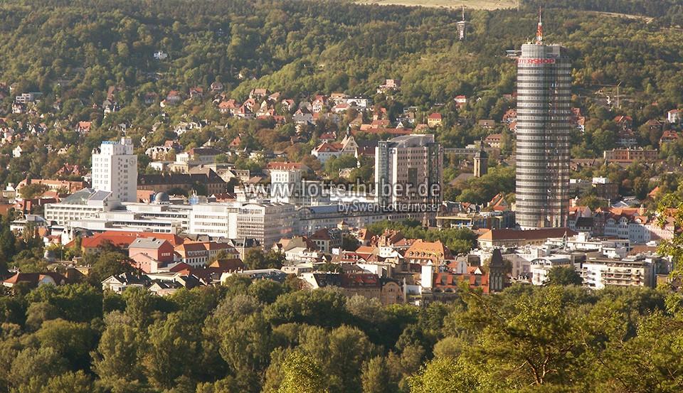 Zentrum von Jena in Thüringen – fotografiert 2006/2007